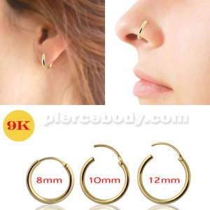 9K Gold Segment Hoop Nose Ring