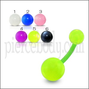 UV Acrylic Belly Banana Bar with Green UV Balls