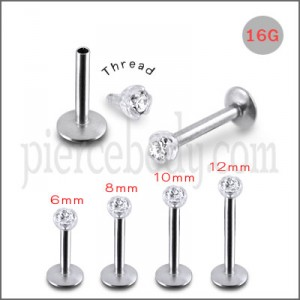 Steel Madonna Labret with Jeweled Bio Top