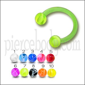 Bio-Flex UV Ball End Circular Horseshoe Barbells