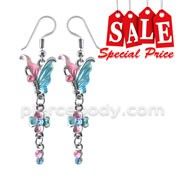 Multi Crystal Dangling Costume Earring CLER031