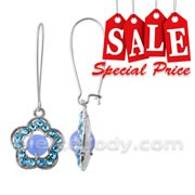Multi Crystal Stone Costume Earring