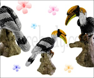 Crystal stones King Fisher