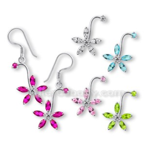 925 Sterling Silver Flower Earring