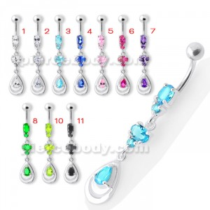 Fancy Jeweled Navel Belly Button Ring