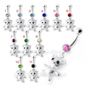 Teddy Bear Navel Belly Ring