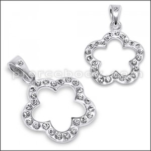 925 Sterling Silver Jeweled Pendant