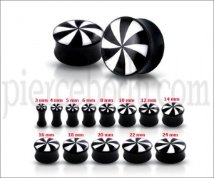 Double Flared Swirl Logo Ear Plug