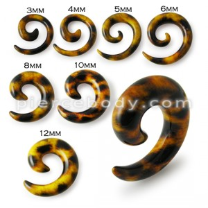 Classic Leopard Brown Cheetah Ear Expanders Spiral Taper Plugs