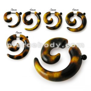 Snail Spiral Buffalo Horn Ear Fake Cheater Tunnels Expander Plug