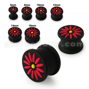 Embossed Flower Silicone Ear Plug