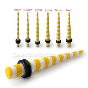 Yellow Stripe Straight Ear Expander