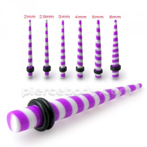 Purple Stripe Straight Ear Expander