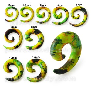 Flower Spiral Ear Expander Stretcher Plug Body Pierce Jewelry