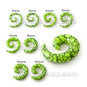 Spiral Stretching Ear Plugs Gauges Flesh Tunnels Stretchers