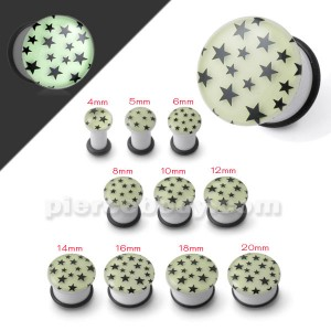 Glow In The Dark Multi Stars Ear Plug