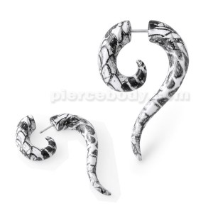 Marble Spiral Tail Fake Ear Plug
