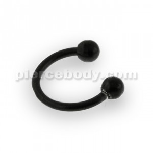 22G Black Anodized Micro Circular Barbell
