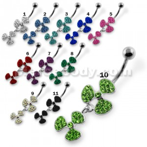 Multi Jeweled Bio-Hazard Navel Belly Piercing