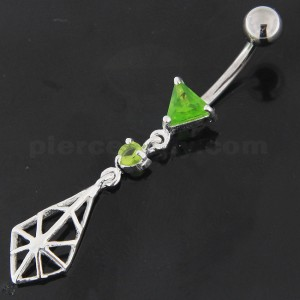 925 Sterling Silver Spider web Belly Button Ring