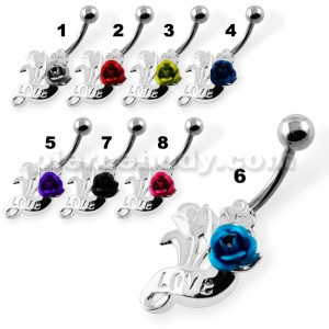 Lovely Roses Navel Belly Piercing