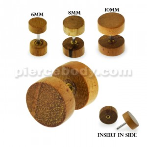Organic Wood Fake Ear Plug