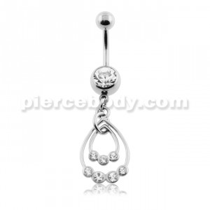 Dangling Jeweled Hangings Belly Button Ring
