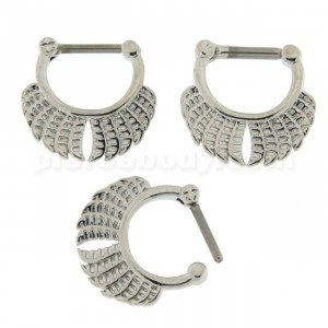 Twin Wings Nose Septum Clicker Piercing