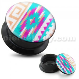 Colorful Lego blocks UV Internal Screw Fit Ear Tunnel