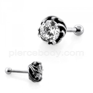 Swirl Claw set Jeweled Casting Fake Ear Plug