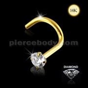 Genuine DIAMOND14K Gold with Nose Screw