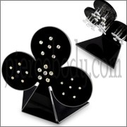 24 Pcs of Bio-Plast Lip Labret with 14K Gold Head in a Display