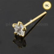 9K Gold Star CZ Jeweled Nose Stud