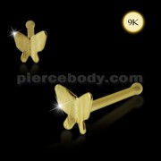 9K Gold Ball End Butterfly Nose Pin