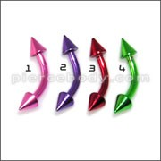 Anodized Curved Barbell with Cone