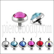 Jeweled Dermal Anchor Tops | Dermal Anchors