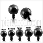 Black Ball Dermal Anchor Tops | Dermal Anchors