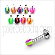 UV ACRYLIC REACTIVE FLEXIBLE TONGUE NIPPLE BARS