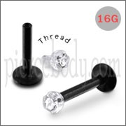 Blackline Madonna Labret with Jeweled Bio Top