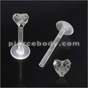 BioFlex Madonna Labret with Heart Jeweled Top