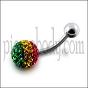 Crystal Stone Belly Ring Body Jewelry FDBLY312