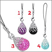 Multi Crystal Mobile Phone Charms