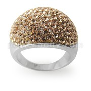 Austrian Crystal Stone Finger Ring Rhodium Platting