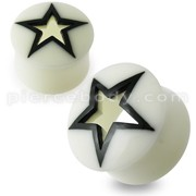 Hollow Star Bone Ear Plug