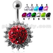 Fancy Jeweled Silver Belly Bar