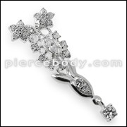925 Sterling Silver Fancy Jeweled Pendant