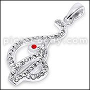 Sterling Silver Jeweled Baby Phat Pendant