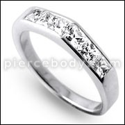 Zirconia Jeweled Fashion Silver Ring PBRJ019