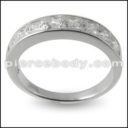 Jeweled Fashion Silver Ring PBRJ024 band