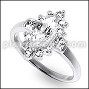 Women's Fashion Grace Vintage Rhinestone Finger Jewelry Ring